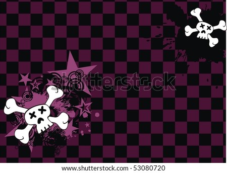 background with skull cartoon in vector format