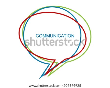 Background with speech bubbles - stock vector
