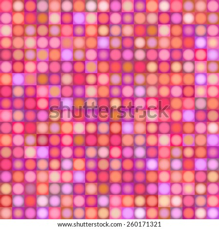 background with sphere and square in multiple pink red magenta