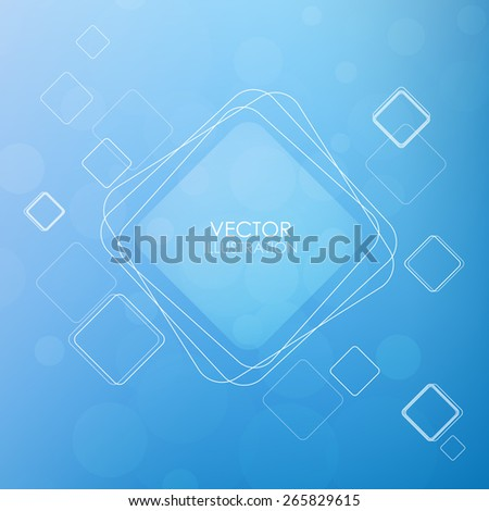Background with squares. Abstract vector illustration. Clip-art - stock vector