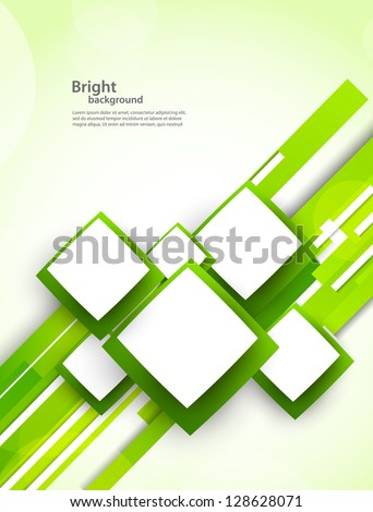 Background with squares and lines - stock vector