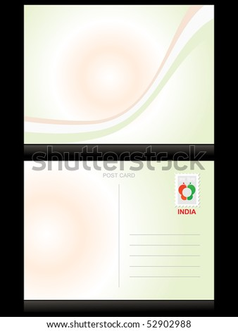 background with stripes in flag color, illustration postcard - stock vector