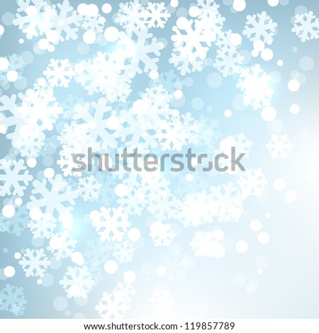 Background  with stylized snowflakes. Vector illustration - stock vector