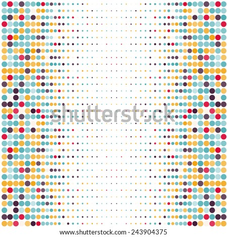 Background with the colored circles in a vector. Vintage color. - stock vector