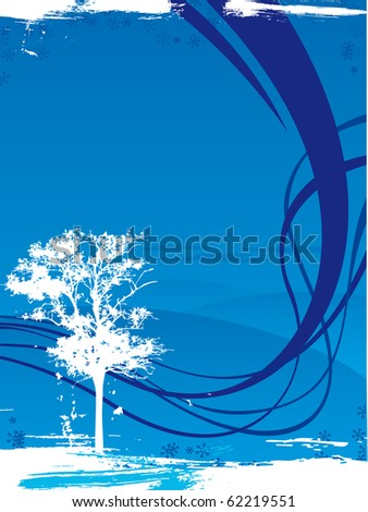 Background with tree - stock vector