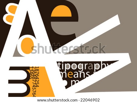 Background with typography. Vector illustration. - stock vector