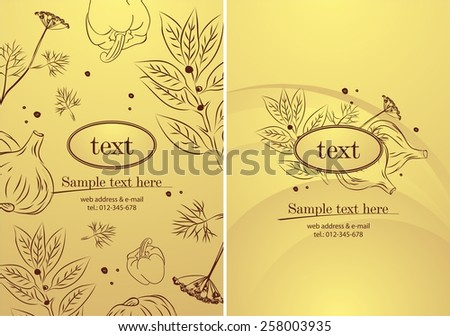 Background with vegetables. - stock vector