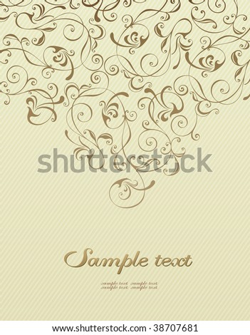 Background with vintage decoration