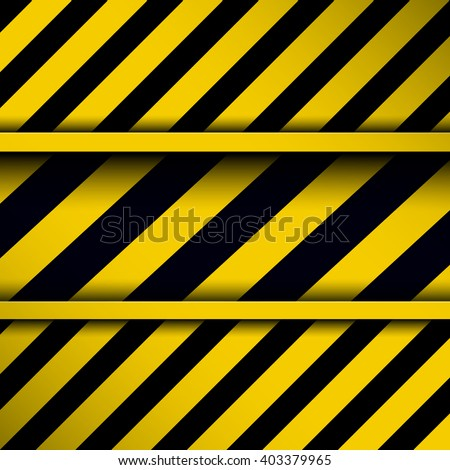 Background with warning stripes,  vector illustration. - stock vector