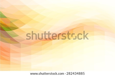 Background with waves and polygons  - stock vector