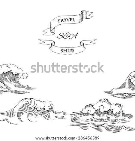 Background with waves. Vector Illustration - stock vector