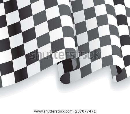 Background with waving racing Flag. Vector illustration Eps 8. - stock vector