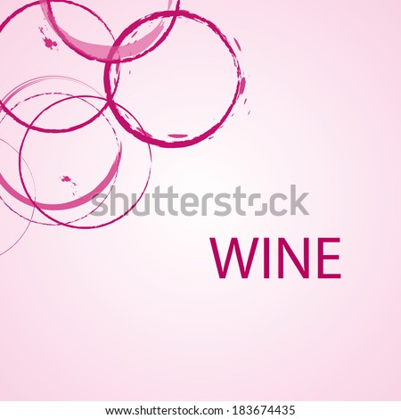 Background with wine stains, vector illustration - stock vector