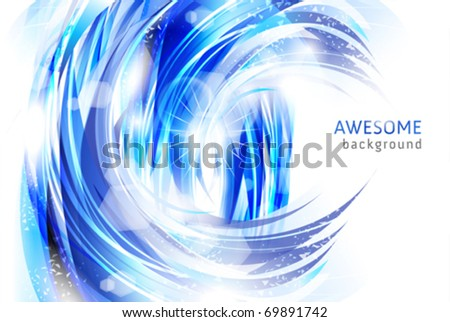 backgrounds - abstract waves and water splashes
