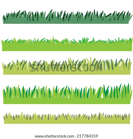 Backgrounds Of Green Grass, Isolated On White Background - stock vector