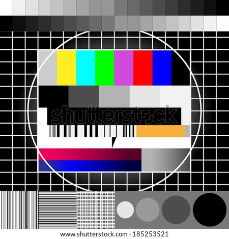 Backgrounds & textures, old TV stand picture - stock vector