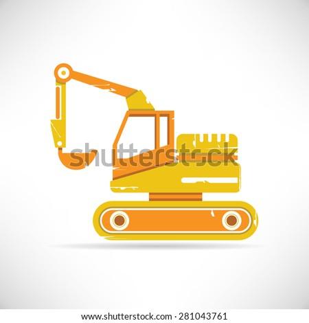 backhoe loaders, heavy equipment - stock vector