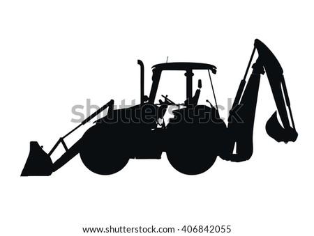 Backhoe silhouette