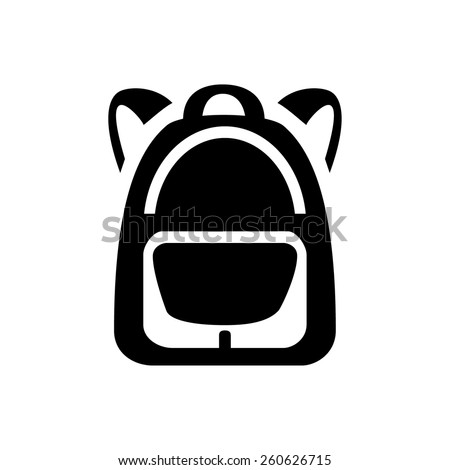 Backpack icon - stock vector