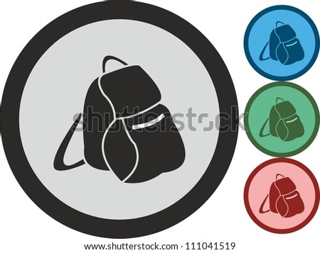 Backpack, vector, icon - stock vector
