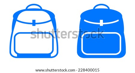 Backpack vector icon - stock vector
