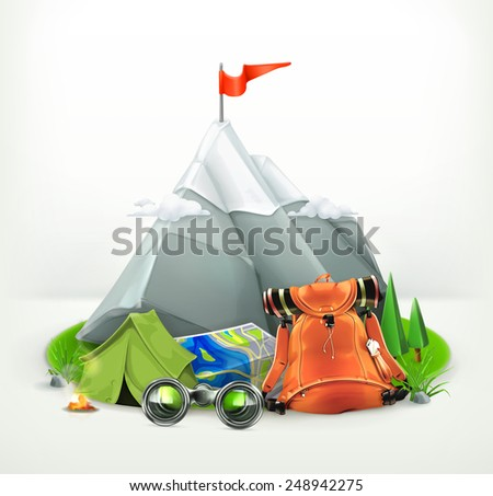 Backpacking vector illustration - stock vector