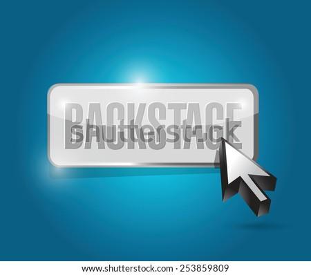 backstage button illustration design over a blue background - stock vector