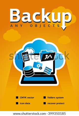 Backup blank for web, site, advertising, banner, poster, board and print. - stock vector