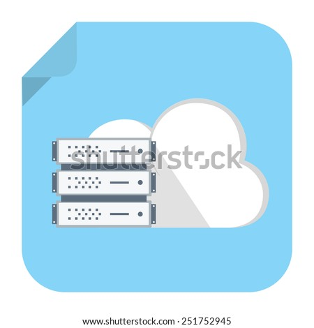 backup cloud computer icon - stock vector