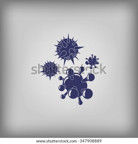 Bacteria and viruses icon - stock vector