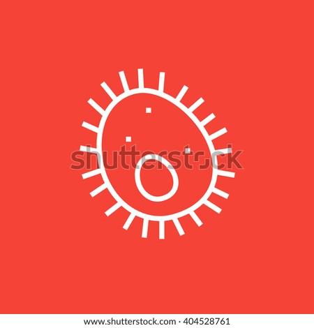 Bacteria line icon. - stock vector