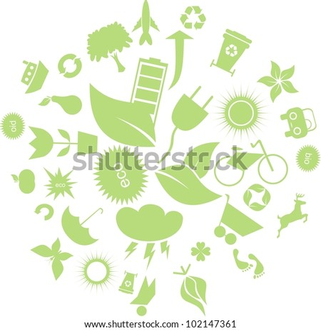 bad ecology concept - stock vector