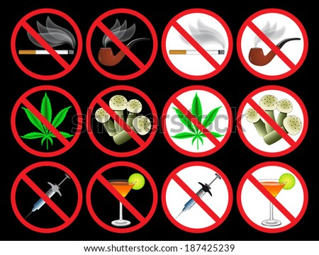 bad habits - stock vector