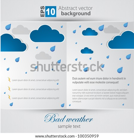 Bad weather background. sky with clouds and lightnings. - stock vector