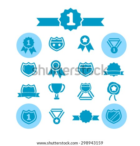 badge, awards isolated signs, icons vector set for web, application, design. - stock vector
