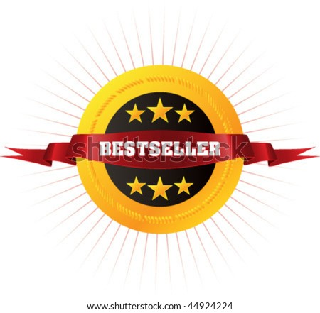 "Badge ""Bestseller"" for your online store, website or business artwork. Vector. - stock vector"
