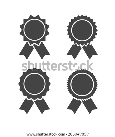 badge black icon - set - stock vector