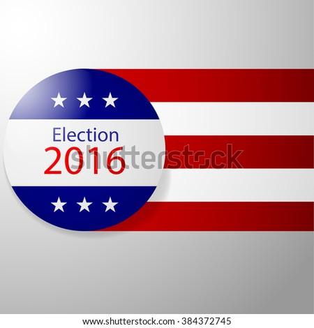 Badge Election 2016. Shield election. Vector illustration - stock vector