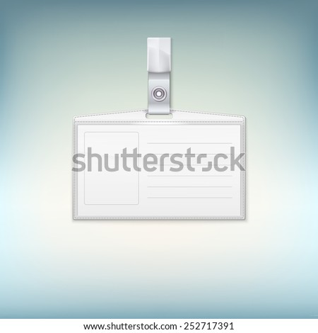 Badge holder on colored backgroound. Vector illustration for your design