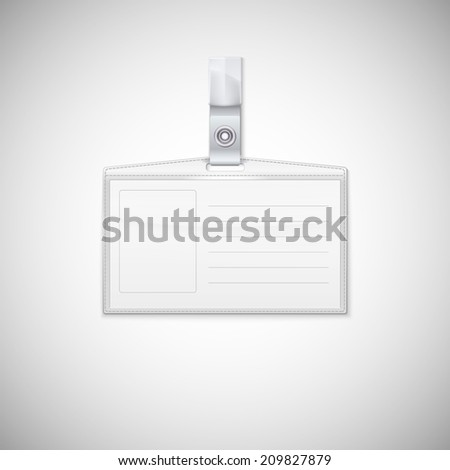 Badge holder. Vector Realistic Card Name or Id Holder - stock vector