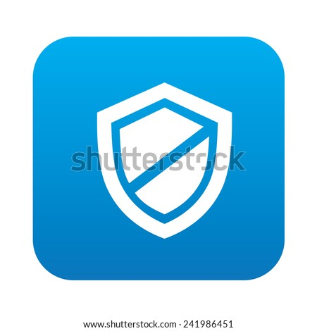 Badge icon on blue button background,clean vector - stock vector