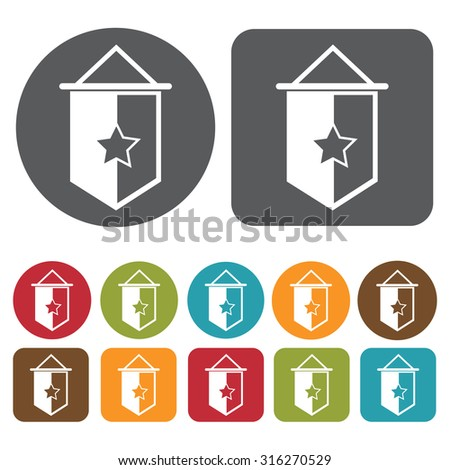 badge icons set. Vector Illustration eps10.  - stock vector