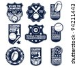 badge set - stock vector