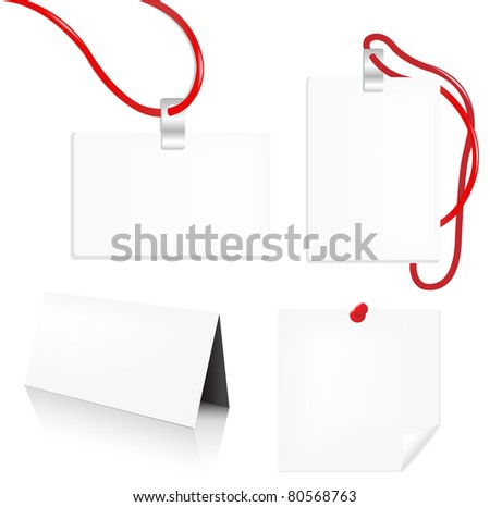 Badge Set, Isolated On White Background, Vector Illustration