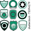 badge symbol icon design - stock vector