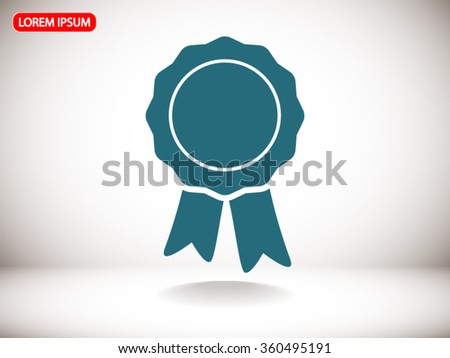 badge with ribbons icon