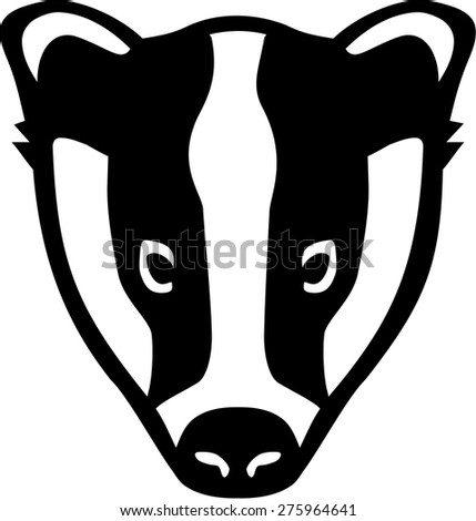 Badger Stock Vectors, Images & Vector Art | Shutterstock Raccoon Face Clip Art Black And White