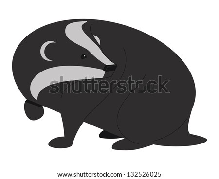Badger Two. Vector illustration of a Badger. - stock vector
