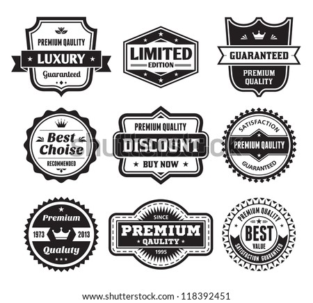 Badges Collection 02 - vector logos template. - stock vector