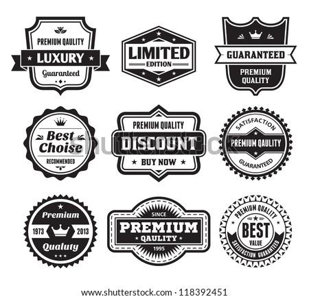 Badges Collection 02 - vector logos template. Creative concept signs. Vintage retro labels.  - stock vector